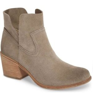 BP. Brice Ankle Bootie in Grey Suede